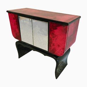 Parchment Bar Cabinet, 1950s