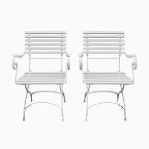 Deutsche Gartenstühle aus Schmiedeeisen, 1880er, 2er Set