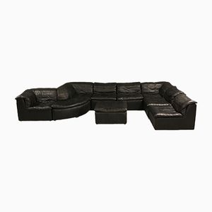 Black Modular Patchwork Sofa from Laauser, 1970s