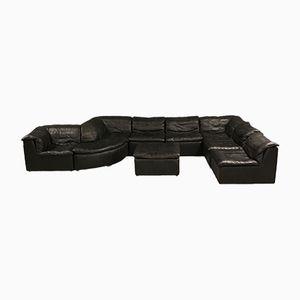 Modulares Schwarzes Patchwork Sofa von Laauser, 1970er