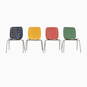Multicolored Model 600 Garden Chairs by Hans Coray for Kim, Set of 4