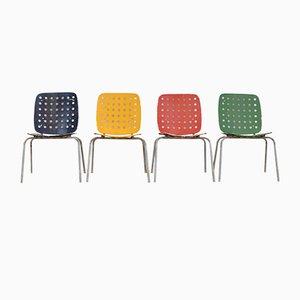 Sedie da giardino modello nr. 600 multicolore di Hans Coray per Kim, set di 4