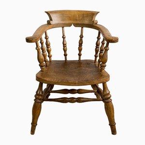 English Oak Desk Chair, 1900s