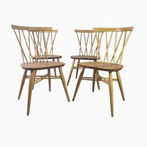 Windsor Gitter Stühle von Lucian Ercolani für Ercol, 1960er, 4er Set