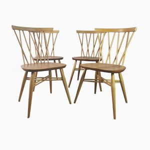 Windsor Latticed Chairs by Lucian Ercolani for Ercol, 1960s, Set of 4