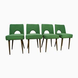 Polnische Muschel Stühle, 1960er, 4er Set