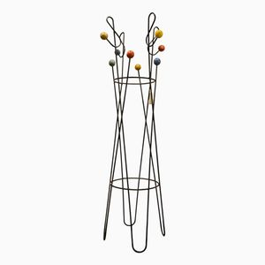 Mid-Century Black Iron Coat Stand by Roger Feraud