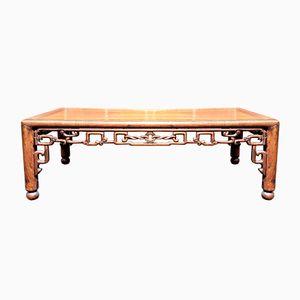 Tavolino da caffè antico in padouk