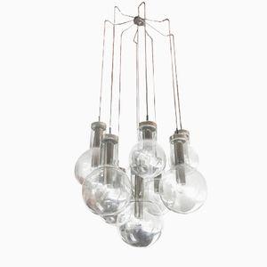 Deckenlampe mit Neun Glaskugeln von Raak, 1970er