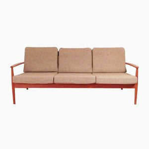 Solid Teak Three-Seater Sofa by Grete Jalke for Cado, 1960s