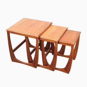 Tavolini a incastro modello Astro in teak di G-Plan, anni '60