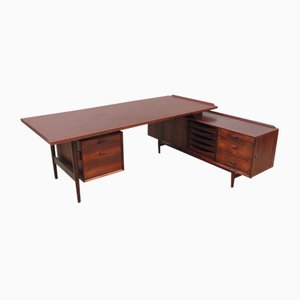 Large Scandinavian Rio Rosewood Desk by Arne Vodder for Sibast, 1960s
