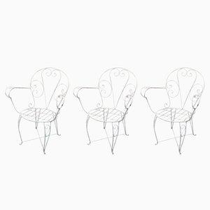 Vintage Spanish Garden Chairs, Set of 3