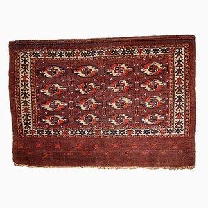 Tappeto antico Tekke fatto a mano, Turkmenistan, metà XIX secolo
