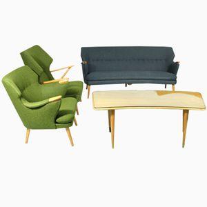 Mid-Century Sofa, Sessel und Tisch Set