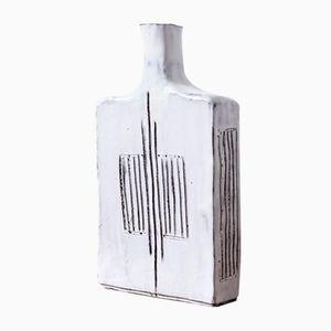 Flaschenförmige Vintage Keramikvase von Jac Ward