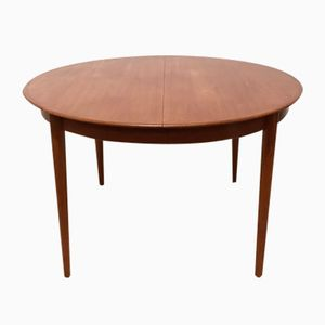 Danish Extending Round Dining Table from Dyrlund, 1960s