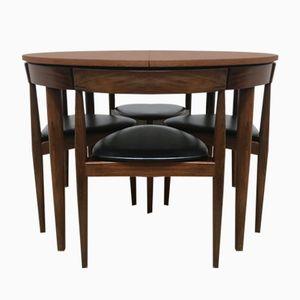 Tavolo da pranzo Mid-Century allungabile in teak e sedie di Hans Olsen per Frem Røjle, Danimarca