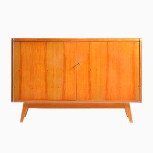 Sideboard mit Schwarzer Glasplatte von Jitona, 1960er
