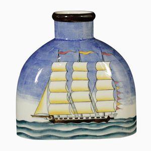 Flaschenförmige Keramikvase von Gio Ponti für Richard Ginori, 1930er