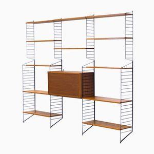 Großes Vintage Regalsystem von Nisse & Kajsa Strinning für String Design AB