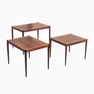 Vintage Veneered Rosewood Nesting Tables