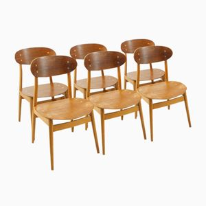 Swedish Dining Chairs by Alf Svensson for Hagen Fors, Set of 6