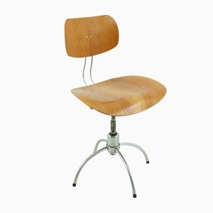Chaise de Bureau SE 40 Mid-Century en Teck par Egon Eiermann