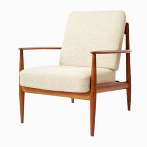 Mid-Century FD118 Teak Easy Chair by Grete Jalk for France & Daverkosen