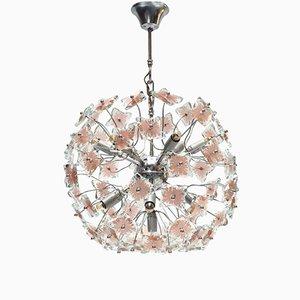 Italienischer Glas Sputnik Kronleuchter, 1970er