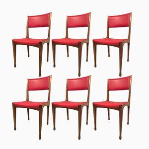 Italienische Mid-Century 693 Stühle von Carlo de Carli für Cassina, 1958