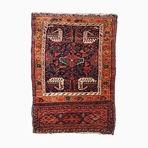 Tapis Bagface Antique Persan Kurde Fait à la Main, 1880s