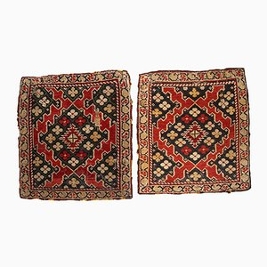 Antique Armenian Karabakh Handmade Bagface Rugs, 1880s, Set of 2