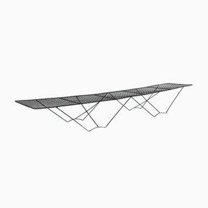 Panca o tavolo basso in metallo, anni '50