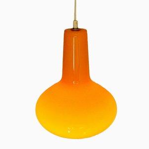 Orange Italienische Glas Hängelampe von Massimo Vignelli für Venini, 1960er
