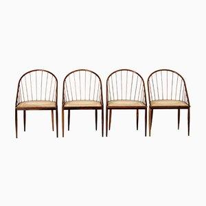 Curva Stühle von Joaquim Tenreiro, 1960er, 4er Set