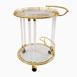 Vintage Italian Gilt & Glass Drinks Trolley from Orsenigo
