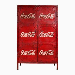 Indian Industrial Steel Coca Cola Factory Cupboard, 1950s