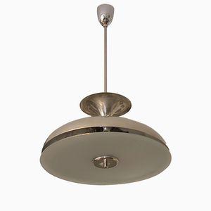 Bauhaus Chromed Ceiling Lamp, 1930s