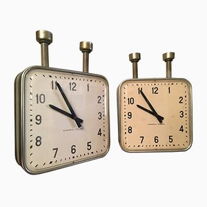 Vintage Double Face Ceiling Clock by Gio Ponti for Boselli Milano