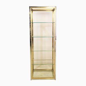 Italian Brass and Chrome Shelf by Romeo Rega, 1970s
