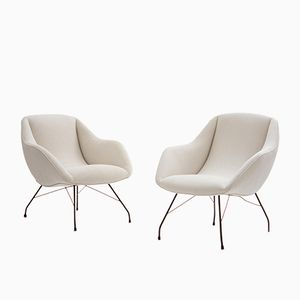 Shell Armchairs by Carlo Hauner, 1950s, Set of 2