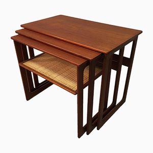 Vintage Nesting Tables by Johannes Andersen & Illum Wikkelsø for CFC Silkeborg