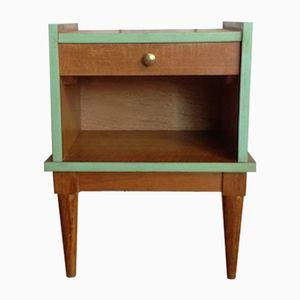 Vintage French Wooden Bedside Table