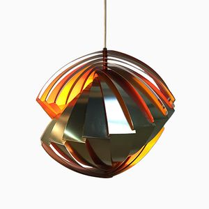 Lampada a sospensione vintage di Louis Weisdorf per Lyfa, 1964