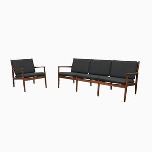 Modernes Dänisches Sofa und Sessel von Grete Jalk für Glostrup Møbelfabrik