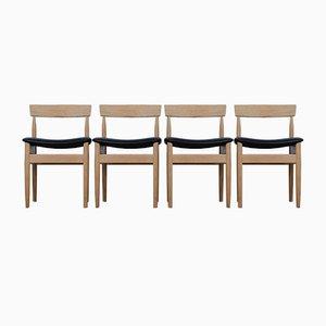 Dänische Mid-Century Esszimmerstühle aus Eiche, 4er Set