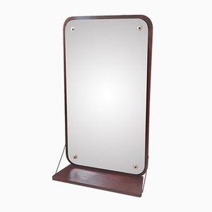Specchio nr. 12 in teak di Aarhus Glasimport & Glassliberi, Danimarca, anni '60