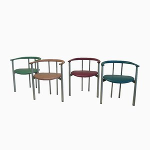Ialea Leather Chairs by Antonio Citterio & Paolo Nava for B&B Italia, Set of 4