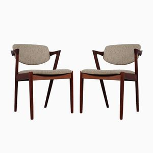Vintage Model 42 Z-Chairs by Kai Kristiansen, Set of 2
